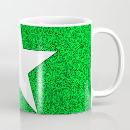 white star on green and black abstract background Coffee Mug