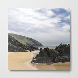 Peaceful sand and ocean Metal Print