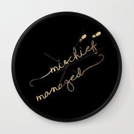 Mischief Managed (black) Wall Clock