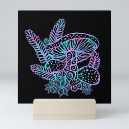 Glowing Mushrooms Mini Art Print