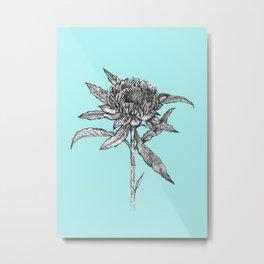 Flower_Lineart. Metal Print