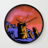 easter Wall Clocks featuring Easter by dvhstudios