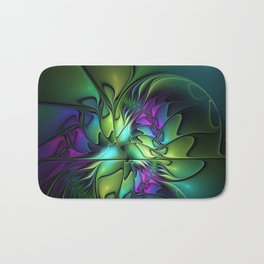 Colorful And Abstract Fractal Fantasy Bath Mat