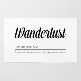 Wanderlust Definition Rug