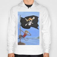 luffy Hoodies featuring Monkey D Luffy by Laércio Messias