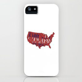 Land of the Free, USA, 4th of July RED iPhone Case