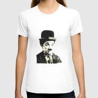 charlie chaplin T-shirts featuring Charlie Chaplin by Lauren Randalls ART