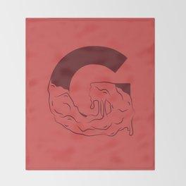 G Illustrated Throw Blanket