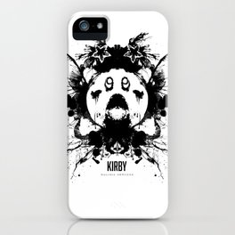 Kirby Ink Blot Geek Psychological Disorders iPhone Case