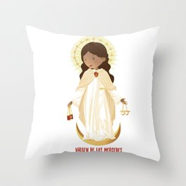 Our lady of Mercy Throw Pillow