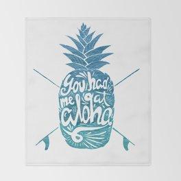 You had me at Aloha! Throw Blanket