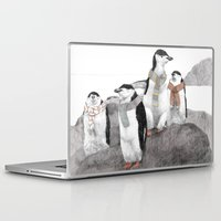 penguins Laptop & iPad Skins featuring Penguins by Jamie Mitchell