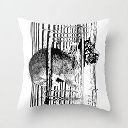 Rabbitiger #society6 #decor #buyart #artprint Throw Pillow