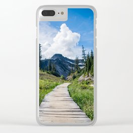 towards the mountains Clear iPhone Case