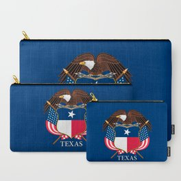 Texas flag and eagle crest concept Carry-All Pouch