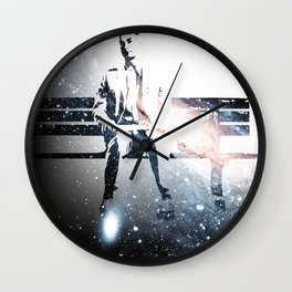FORREST ON A BENCH & COSMOS Wall Clock