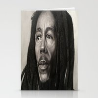 marley Stationery Cards featuring Marley Drawing by Wega13Art