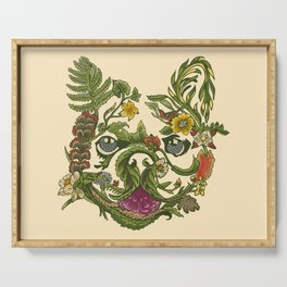 Botanical French Bulldog Serving Tray