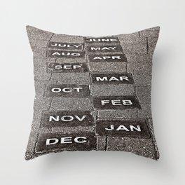 Calendar Walk Throw Pillow