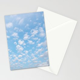 The bright blue sky in my backyard Stationery Cards