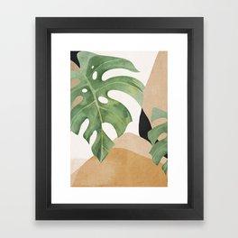 Abstract Art Tropical Leaves 3 Framed Art Print