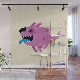 Purple dog Wall Mural