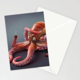 Fantasy Animal Fantasy Animals Octopus Lightsaber Stationery Cards