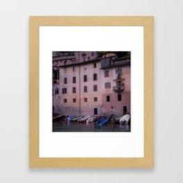 Italian by the sea Framed Art Print