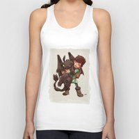 hiccup Tank Tops featuring Hiccup & Toothless - Childhood  by David Tako