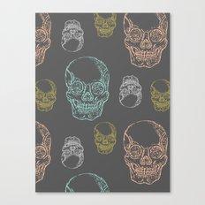 Flirty Skulls Canvas Print