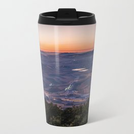 First rays of light, Carmel mountains Travel Mug