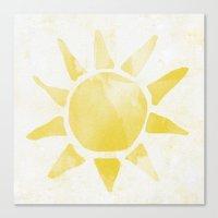 sunshine Canvas Prints featuring Sunshine by Leah Flores