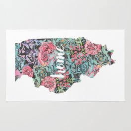 Floral Illinois Home Rug