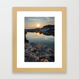 Twinkling Reflection Framed Art Print