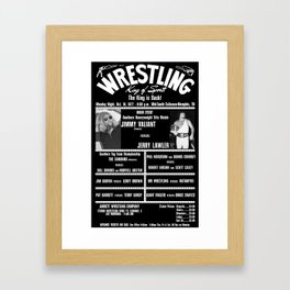 #4-B Memphis Wrestling Window Card Framed Art Print