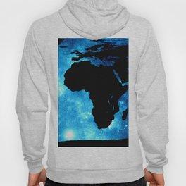 World Map : Blue Galaxy Hoody