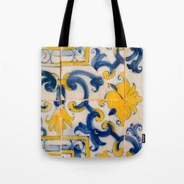 Portuguese azulejos, city of Ericeira Tote Bag