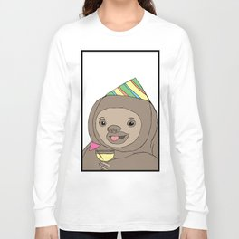 Party Sloth Long Sleeve T-shirt