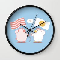 breakfast Wall Clocks featuring breakfast by gotoup