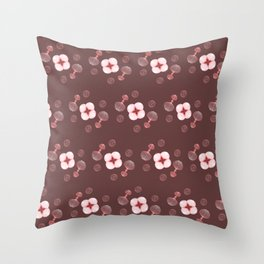 Floral Spores Throw Pillow
