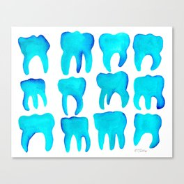 Turquoise Molars Canvas Print