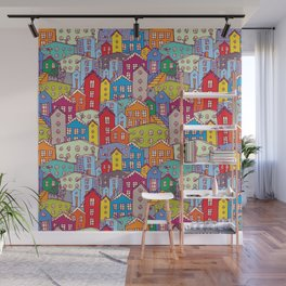 Cityscape Sketch Wall Mural