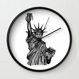 Statue of Suppression Wall Clock