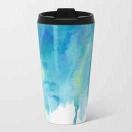 Abstract Watercolor painting Metal Travel Mug