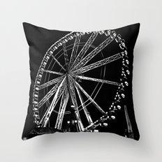 Night Time Ferris Ride Throw Pillow