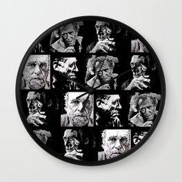 BUKOWSKI - 4 faces Wall Clock