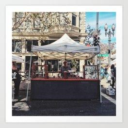 Street vendor Art Print