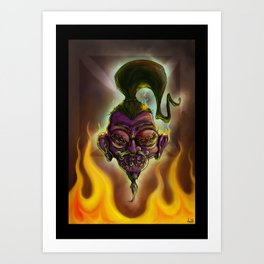 Rebel Shrunken Head Art Print