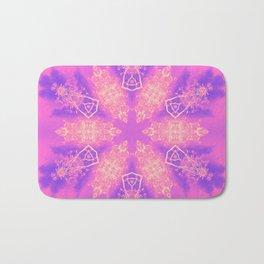 Alien pink snowflake Bath Mat