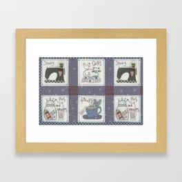 Sewing Friends #2 Framed Art Print